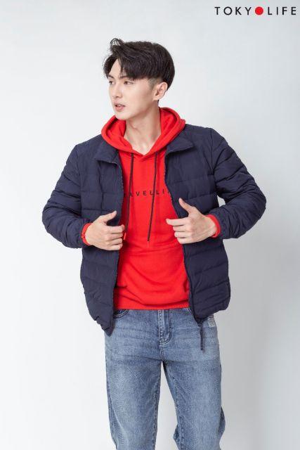Áo khoác lông vũ 3 lớp Nam cổ cao dài tay H1/I7JCK601F